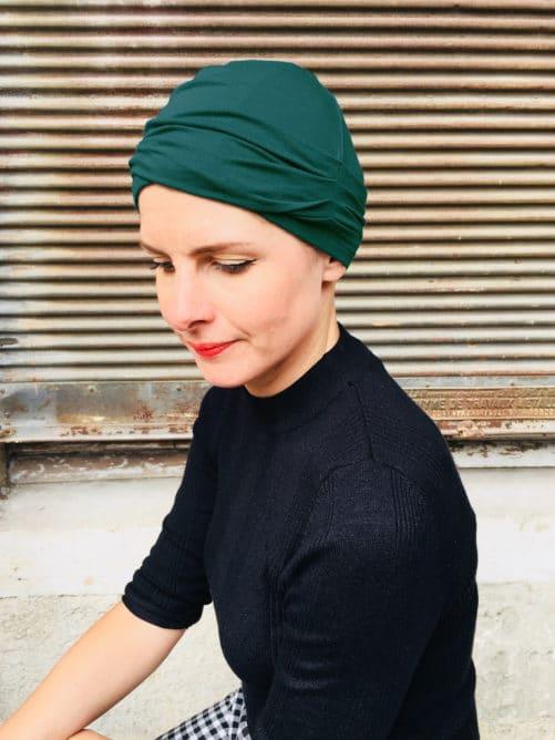 bonnet-chimiotherapie-plis-vert-foudre