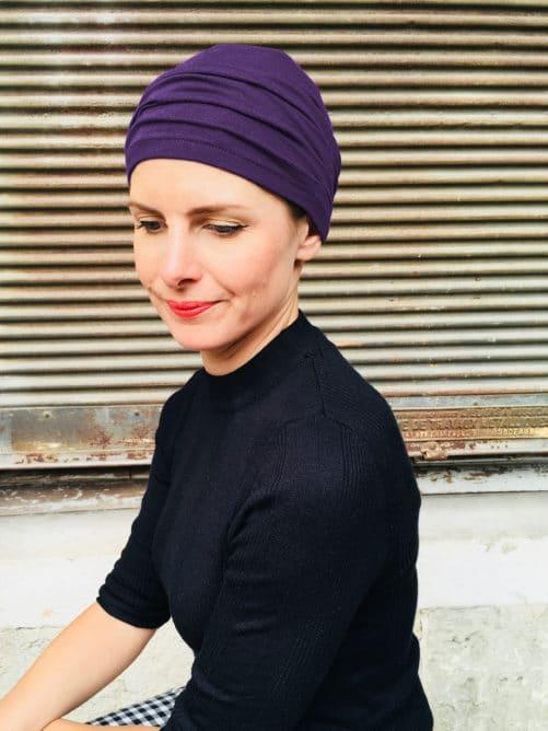 bonnet-chimiotherapie-plis-violet-foudre