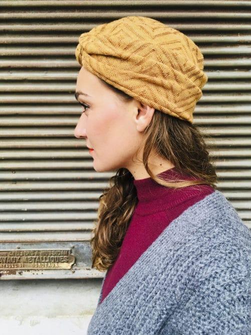 Bonnet chaud style vintage coloris Miel de la marque Foudre