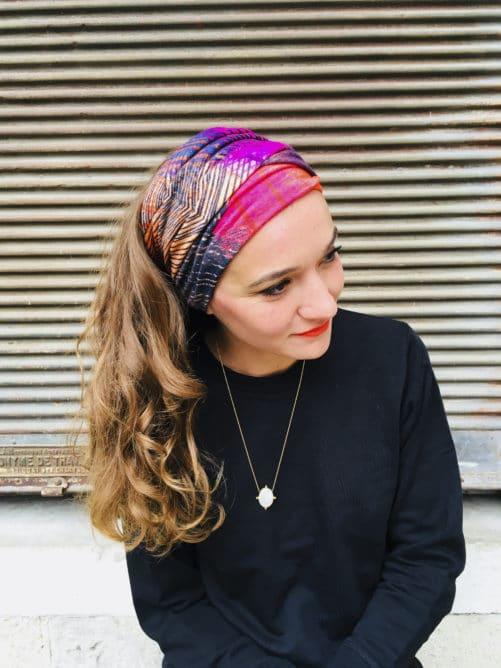 Bandeau à cheveux à scratch en coton de la marque Foudre