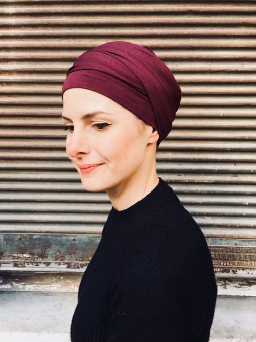 turban-chimiothérapie-foudre-bordeaux-confortable