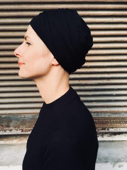 turban-chimiothérapie-foudre-noir-confortable