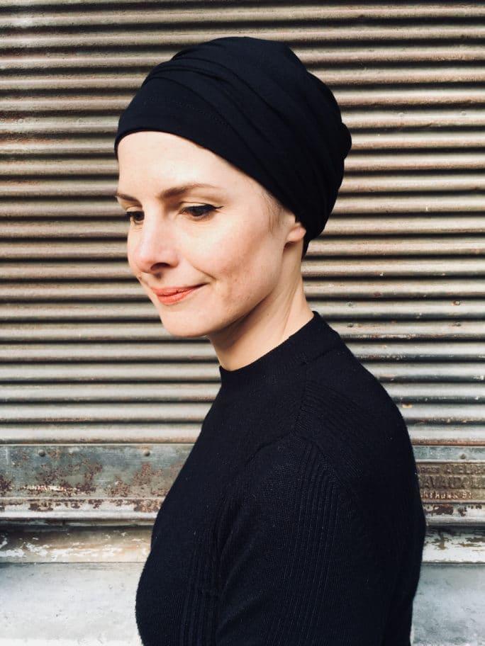 turban-chimiothérapie-foudre-noir-elegant