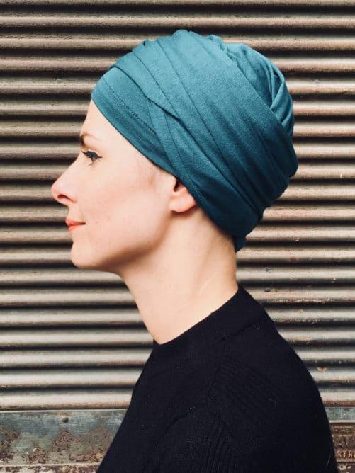 turban-chimiothérapie-foudre-paon-elegant