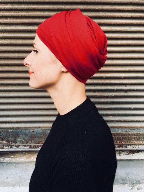 turban-chimiothérapie-foudre-rouge-elegant