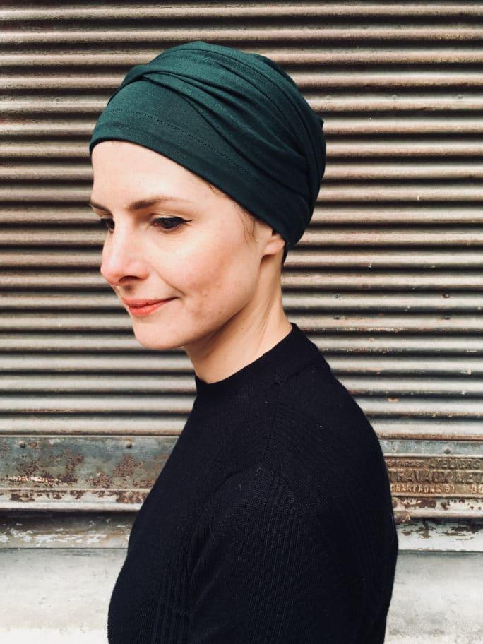 turban-chimiothérapie-foudre-vert-facile