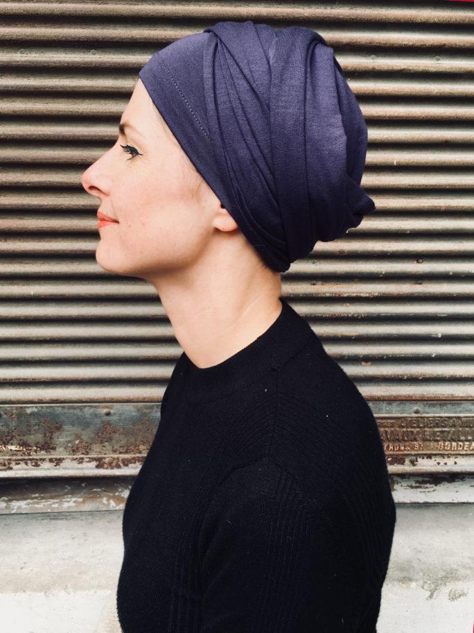 turban-chimiothérapie-foudre-violet-facile
