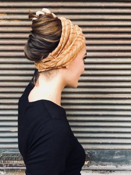 bandeau-a-cheveux-foudre-maille-moutarde-elastique