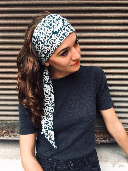 foudre_bandeau_a_cheveux_maya_vert_pour_pelade_alopecie