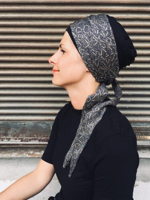 turban_chimiotherapie_foulard_argent_et_or