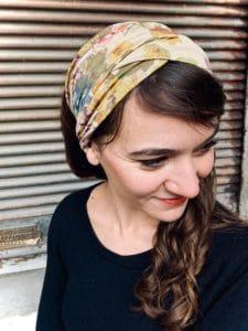 bandeaux à cheveux pour alopécie à fleurs beige