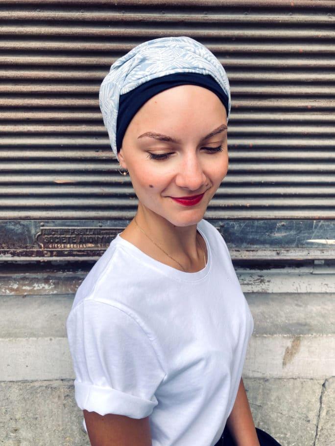 Turban chimiothérapie confortable Feuilles