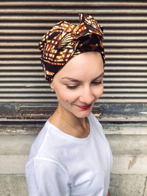 Turban pour chimiothérapie Wax Moka