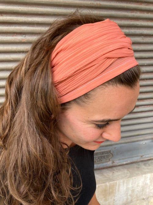 bandeau_a_cheveux_coton_corail
