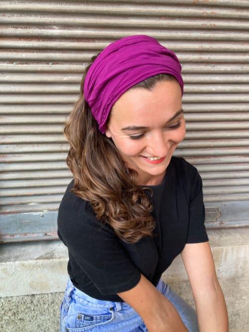 bandeau_a_cheveux_coton_prune