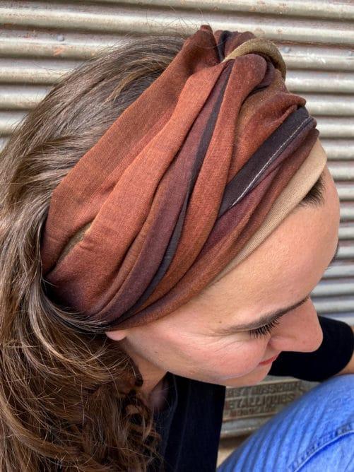 foulard_cheveux_coton_raye_marron