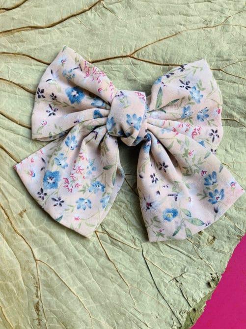 barrette-cheveux-clip-noeud-rose