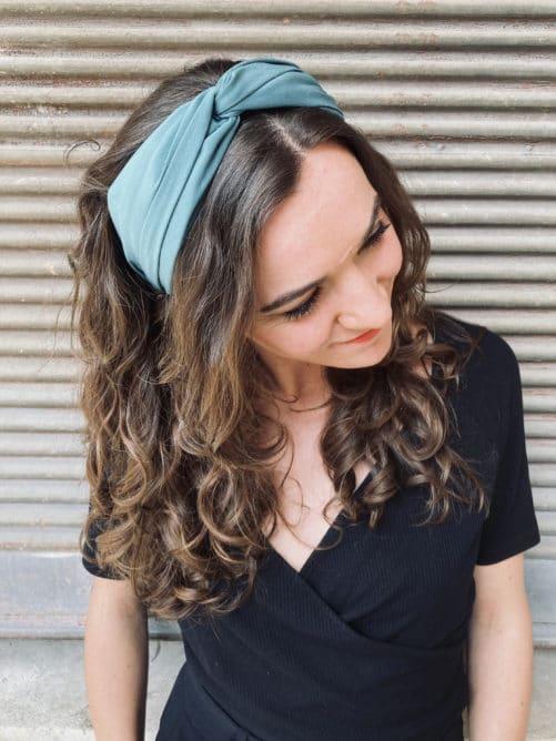serre-tete-foudre-turban-vert