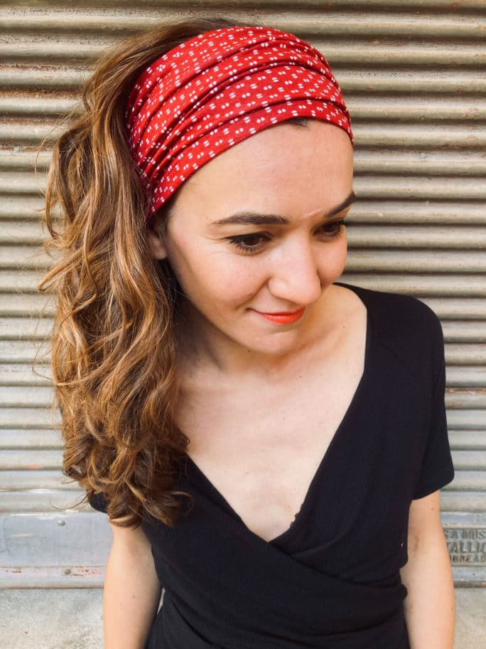 bandeau_a_cheveux_alopecie_pois_rouge