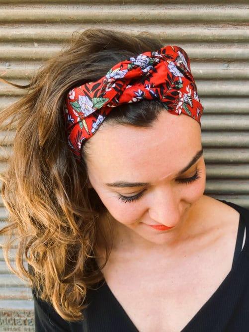 bandeau_a_cheveux_fleurs_hawaien_rouge