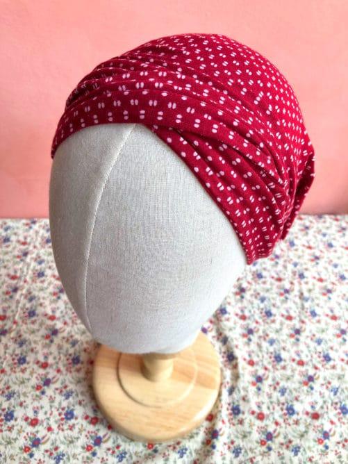 turban_chimiotherapie_pois_rouge