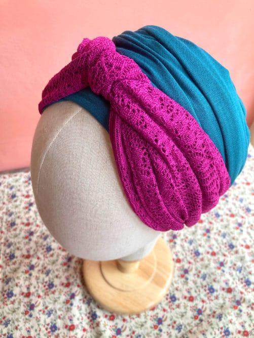 turbans-chimiotherapie-pelade-dentelle-fushia